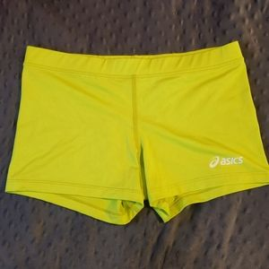 Neon Green Yellow Asics Volleyball Short Medium